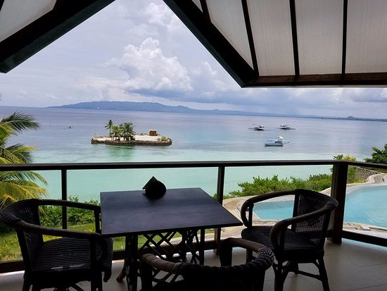 Dauis, Philippines: Your view at breakfast