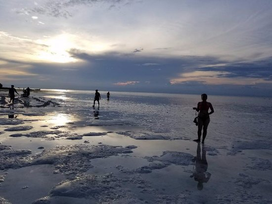 Dauis, Philippines: Low tide...like walking on clouds