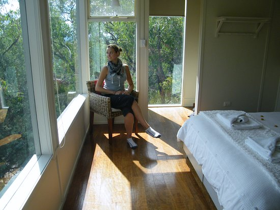 Dunkeld, Australië: Bedroom in Treehouse lodge
