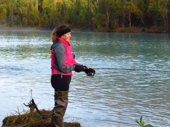 Nikiski, AK: Fishing on off the bank