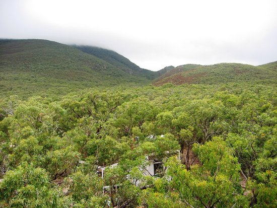 Dunkeld, Australia: View on Aquila Eco Lodges from a helicopter