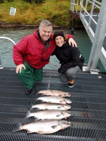 Soldotna, AK: Day #3 silver salmon catch