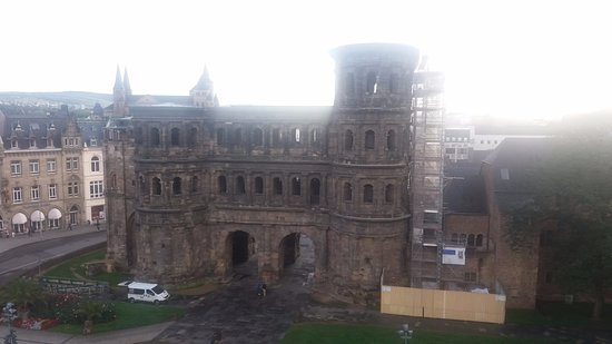 Secrets of the Porta Nigra: View from the hotel opposite
