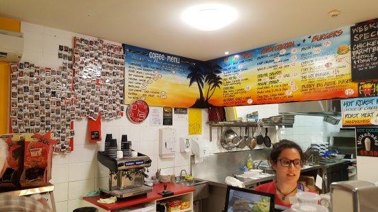 Port Bbq Chickens & Dave's Takeaway: Menu board
