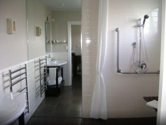 Lodge Bordeaux : wheelchair accessible bathroom