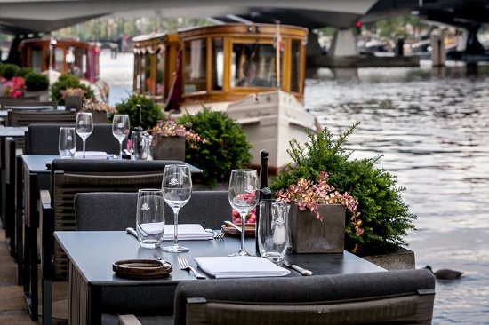Amstel Brasserie at InterContinental Amstel Amsterdam: The terrace of the Amstel Bar & Brasserie