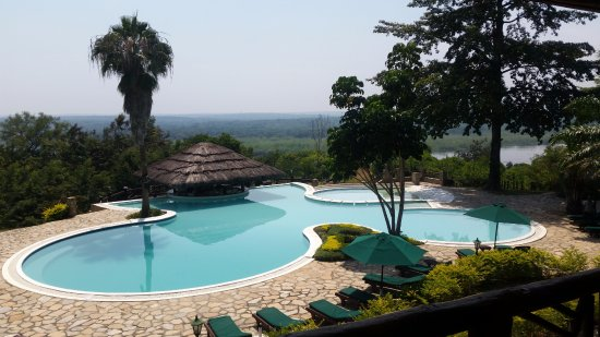 Murchison Falls National Park, Uganda: View from my room overlooking the pool and the Nile River.