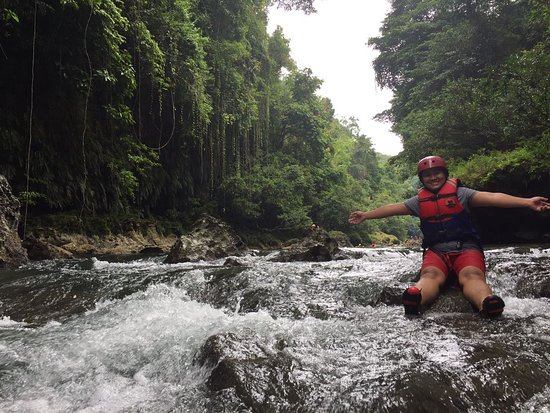 West Java, Indonesia: at Green Canyon