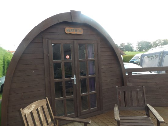 Lundin Links, UK: our lovely cosy pod