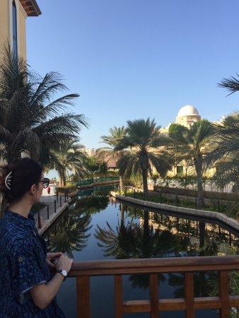 Shangri-La Hotel, Qaryat Al Beri, Abu Dhabi: the bridge on the river