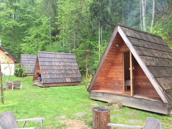 Camp Bled: the hut from outside
