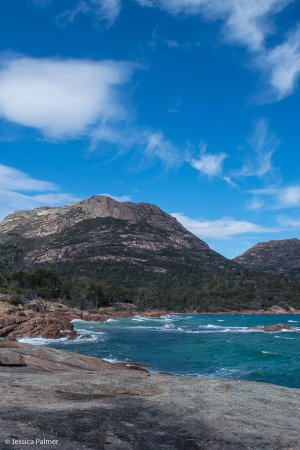 Freycinet, Australia: Honeymoon Bay on a very windy day