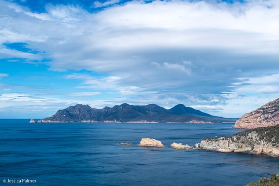 Freycinet, Avustralya: Views from the lookout on the walk up to the lighthouse