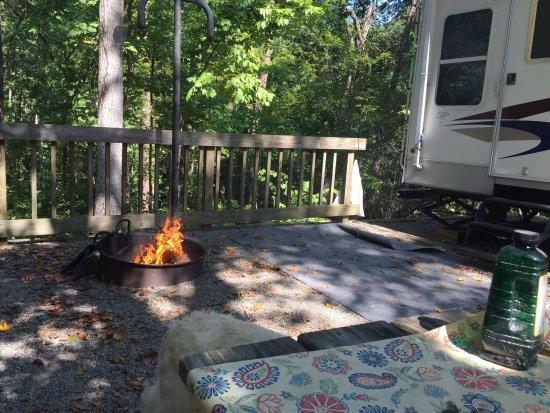 Flovilla, Géorgie : Our campsite