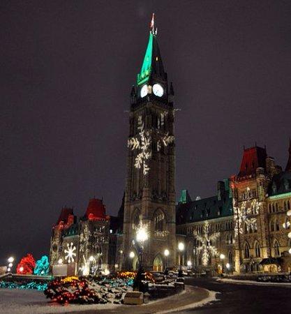Ottawa, Canada: Parliament Hill during Xmas time
