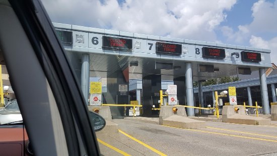 Detroit-Windsor Tunnel: Passing through customs after coming through the tunnel