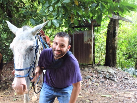 "Quepos, Costa Rica: resting with my horse- ""Moreno"""
