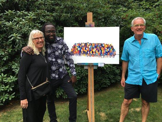 เสากาตัค, มิชิแกน: Some of the great work done by Charles Nkomo during his 2017 trip to Saugatuck.
