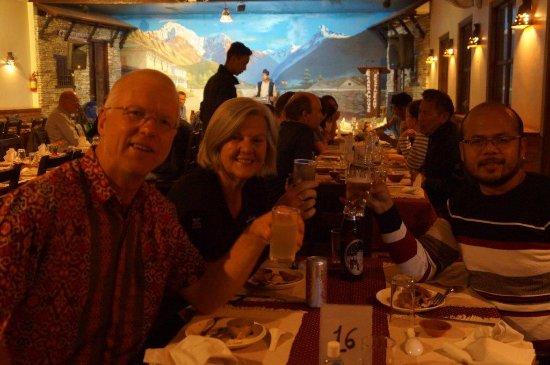 Kathmandu Valley, Nepal: Meal with Mr Milan - great man