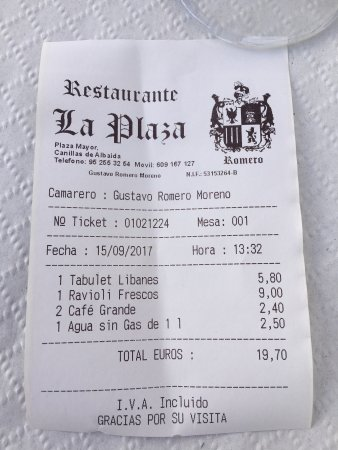 Canillas de Albaida, España: Tolle Speisen zu fairen Preisen.