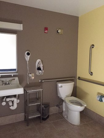 Microtel Inn & Suites by Wyndham Johnstown: Accessible bathrom