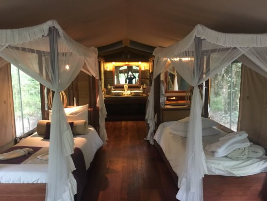 Mara Intrepids Luxury Tented Camp: Twin tent! Beautiful!
