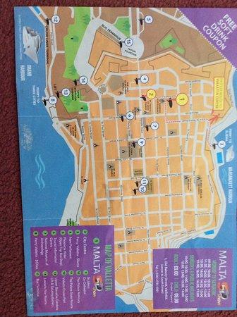 Isola Di Malta Cartina Geografica.Map Of Valletta Malta Foto Di La Valletta Isola Di Malta Tripadvisor