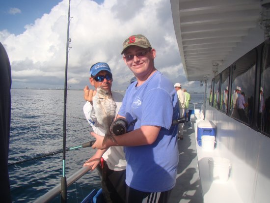 Jupiter, FL: Sammy catching another fish