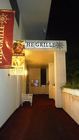 The Grille: Outside the restaurant