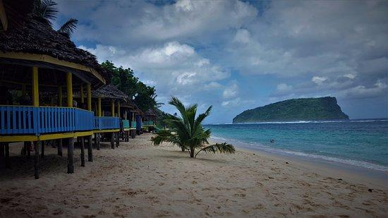 Lalomanu, Ilhas Samoa: beach fales