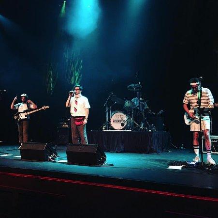 Dubuque, IA: The Spazmatics! performing on the stage - plenty of dance floor to utilize!