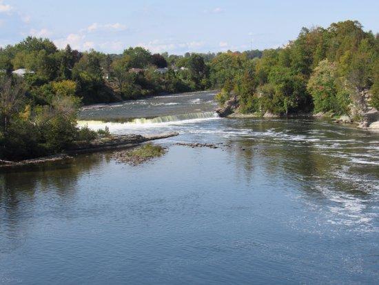 Campbellford, كندا: Ranney Falls just upstream from the suspension bridge.