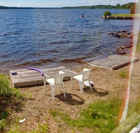 Princeton, ME: The beach area in front of Cabin 2