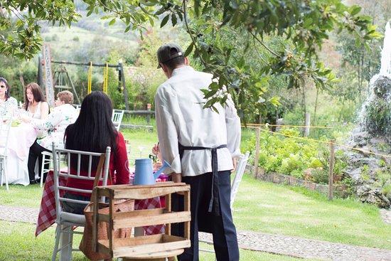Sopo, โคลอมเบีย: Espacio abierto utilizado como comedor