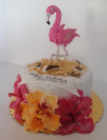 Brilliant Birthday Cake Flamingo Picture Of Nice Cream Mykonos Personalised Birthday Cards Bromeletsinfo
