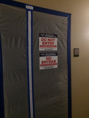 Extended Stay America - San Diego - Carlsbad Village by the Sea: Two meth labs, trash and dirty dishes in the hallway, outside doors are broken.... hazmat had th
