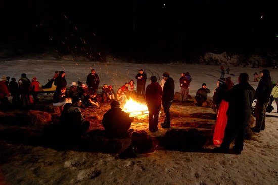 Auburn, ME: Bonfires are one of our favorite things to do during night skiing!