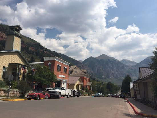 Telluride, CO: Old time shops surrounded by mountains