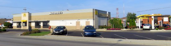 Terre Haute, IN: entrance and drive-thru at McDonald's