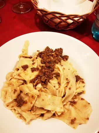 Semproniano, Italy: Pappardelle con ragù di cinghiale