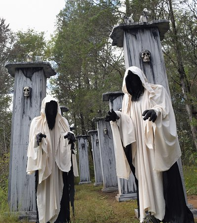 Spring Hill, TN: One of the scenes at Creepy Hollow Haunted Woods