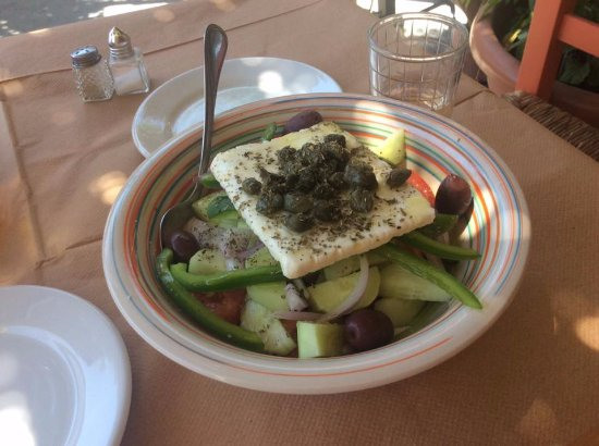 Poseidonia, Greece: authentic greek salad!