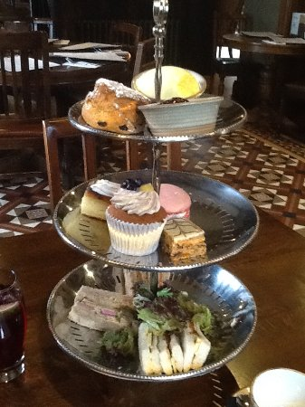 Delicious Afternoon Tea, already started on the sandwiches!