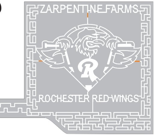 Hilton, NY: 2017 Corn Maize design Rochester Red Wings