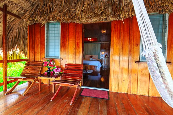 St. George's Caye Resort: View inside an Overwater Cabana