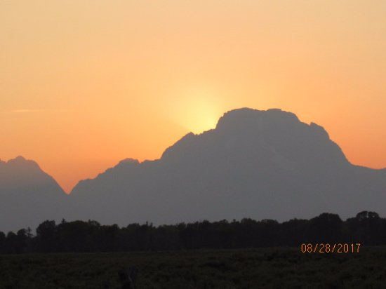 Grand Teton: Smoking sunset in the Tetons