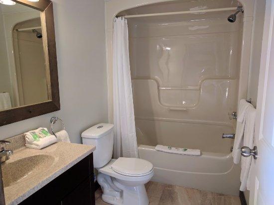 Temagami, كندا: Deluxe Lakeside Motel Bath