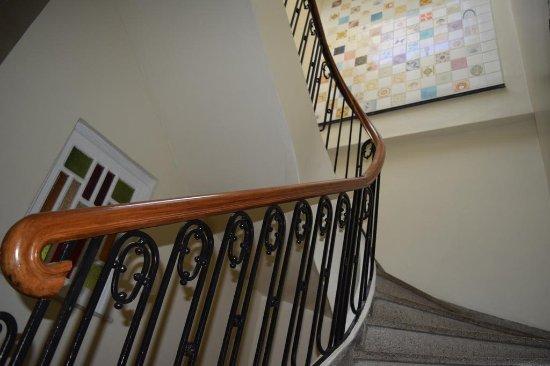 Village Novo: Decorative Detail - 100 year old Stair Case.