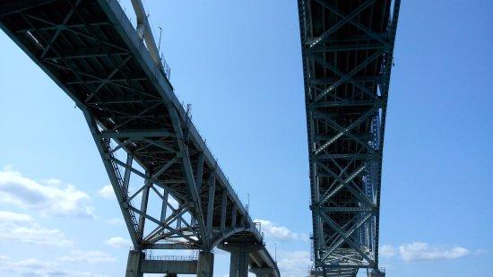 Port Huron, MI: Under the bridges