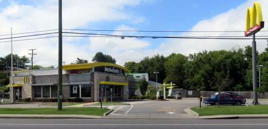 Hermitage, TN: front of, parking lot and drive-thru for McDonald's